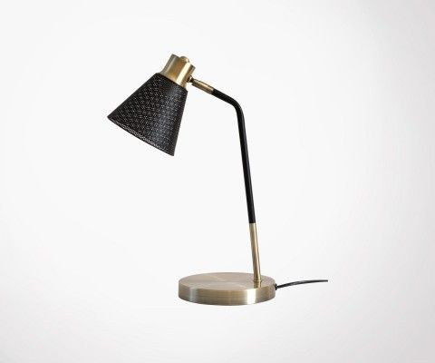 Brushed brass table lamp LENNON - Red Cartel