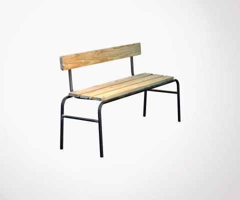 School bench LEXINGTON metal and natural wood - Red Cartel