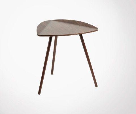 Table d'appoint style scandinave bois naturel LEAF