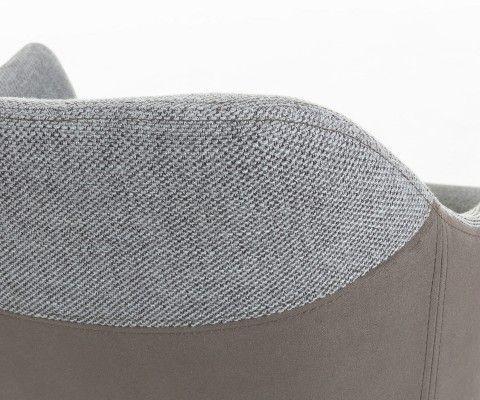 Chaise salle à manger avec accoudoirs bi tissus TROFY