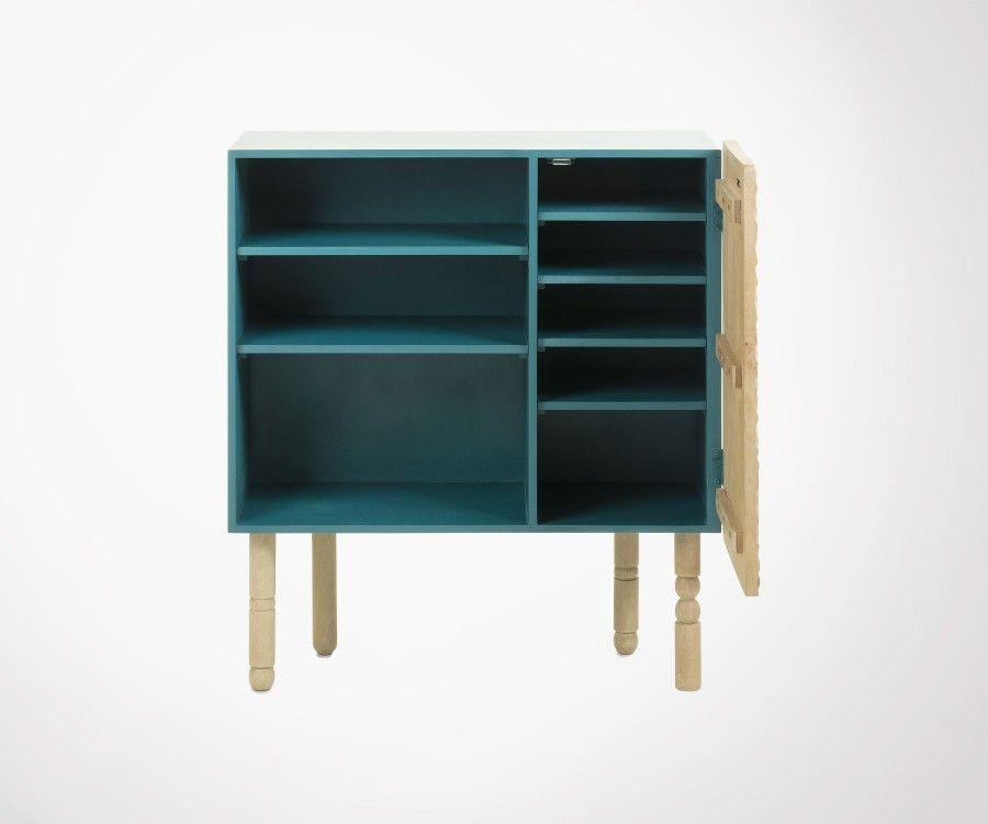 Petite armoire 91x102cm porte sculptée NYOL