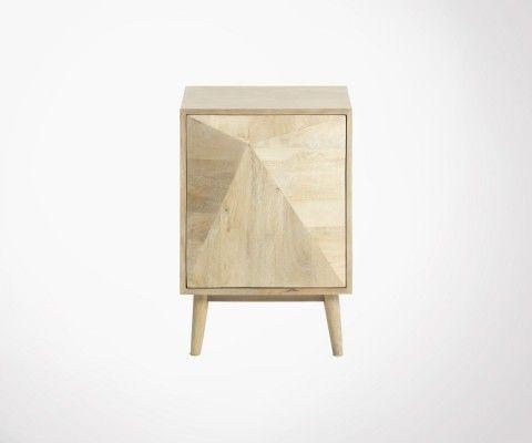 Table de chevet bois de manguier DESERTA