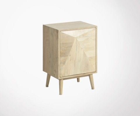 DESERTA mango wood bedside table