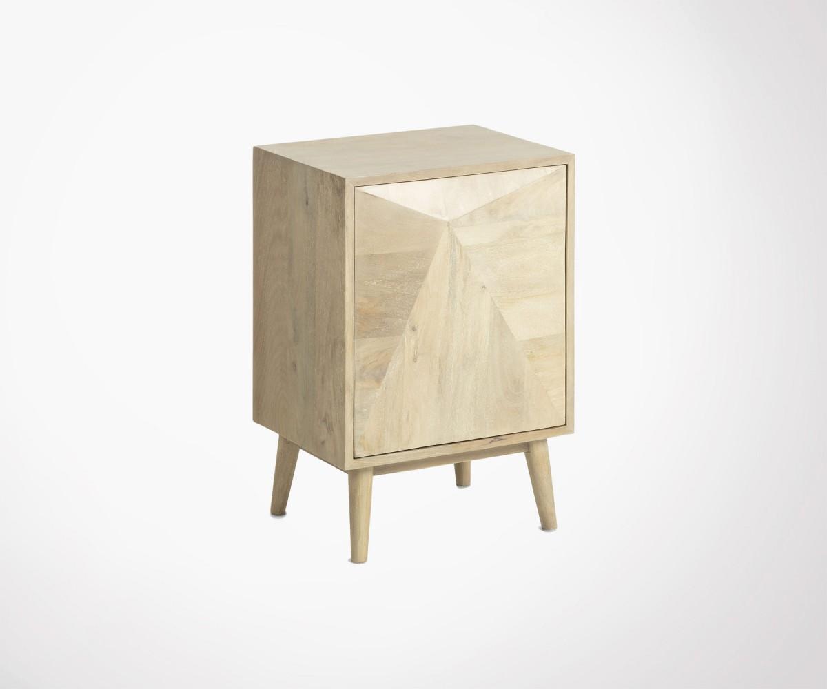 table de chevet bois massif manguier style boh me ethnique. Black Bedroom Furniture Sets. Home Design Ideas