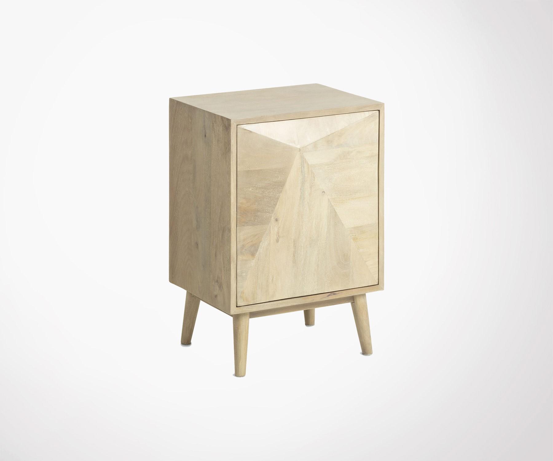 Rondin De Bois Table De Chevet table de chevet bois massif manguier style bohème ethnique