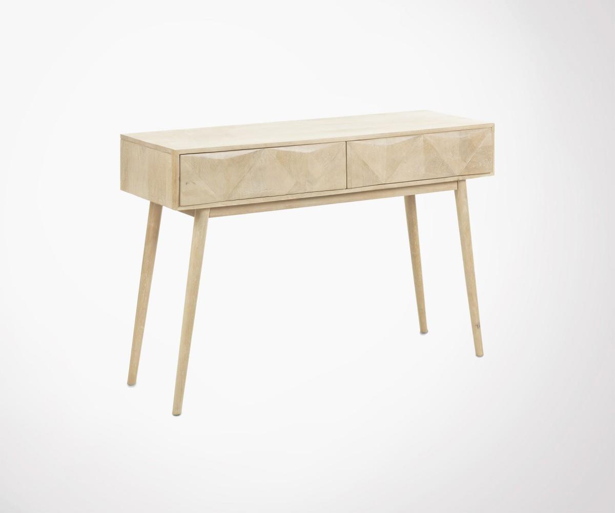 console d 39 entr e bois massif manguier style boh me ethnique. Black Bedroom Furniture Sets. Home Design Ideas