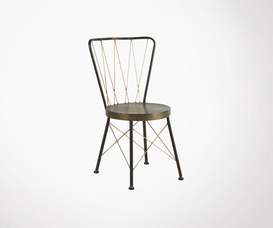 Chaise métal style art déco MISSANDOR