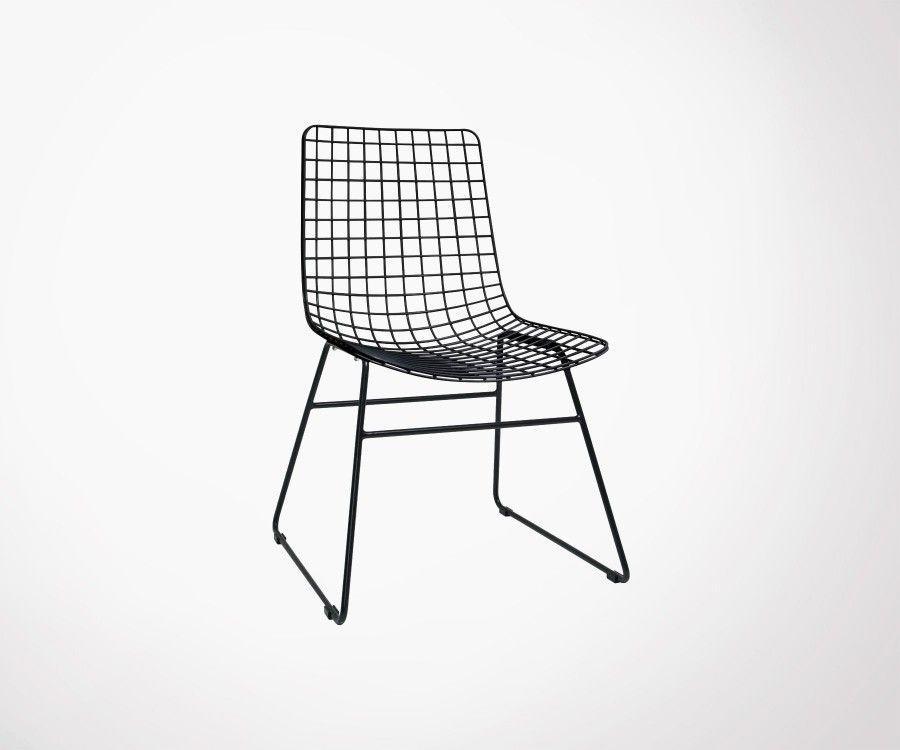 Set of 2 HARRY Black Metal Chair