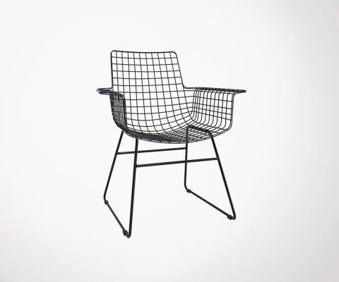 Metal design armchair BERTRAND - HK Living