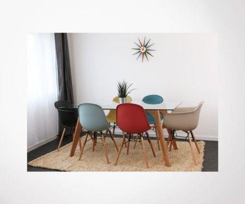 2 scandinavian design dining chairs
