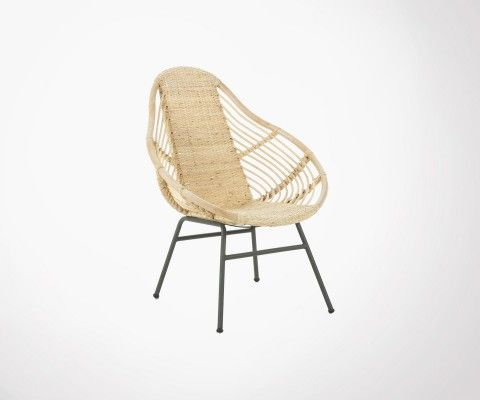 Natural rattan armchair KOLINE