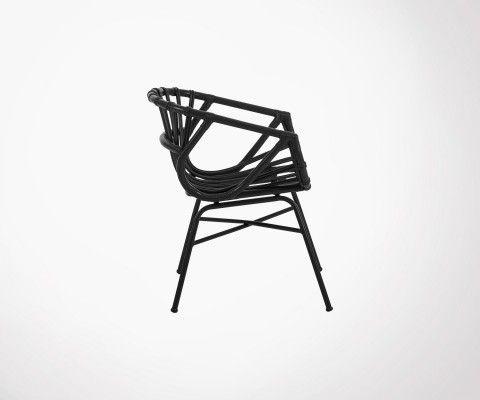 Chaise rotin design bohème STARLINE