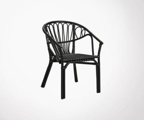 Chaise de jardin rotin naturel AJACCIO