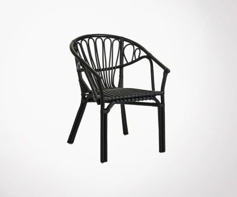 Natural rattan garden chair AJACCIO