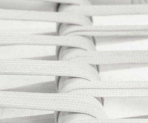 Canapé rotin blanc avec coussins KARDA