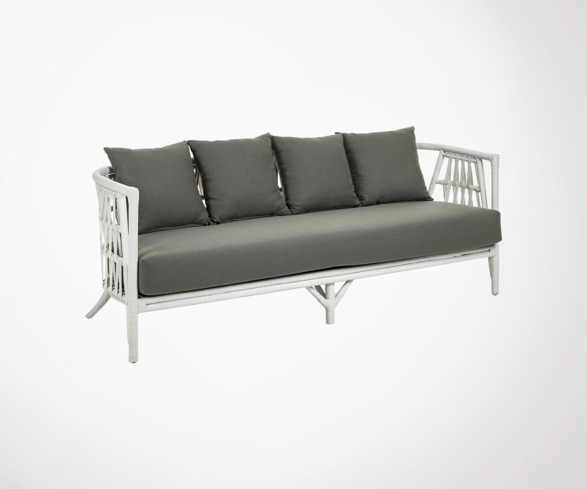 White Rattan Design 3 Seater Sofa Bohemian And Modern Design See Now