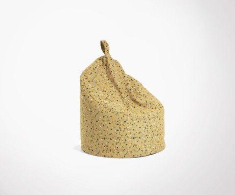 Grand pouf design tissu terrazzo ZARMA