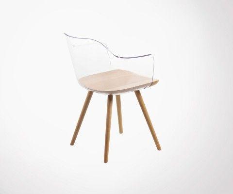 Chaise coque transparente style scandinave BORGO