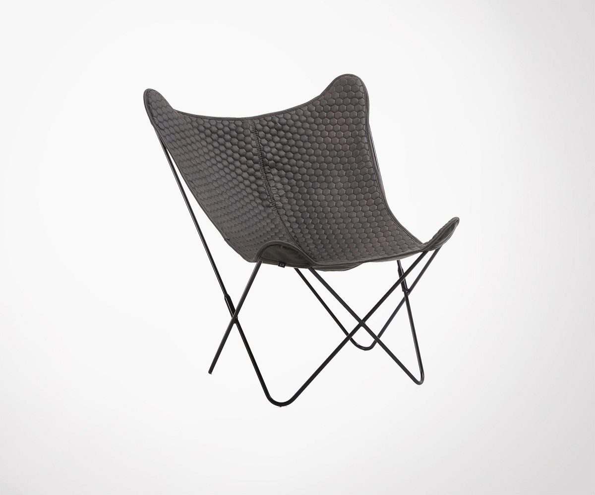 Modern Design Fauteuil.Design Graphite Fabric Butterfly Chair Modern Design Best Online Price