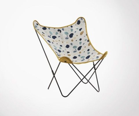 MARTA terrazzo fabric butterfly chair