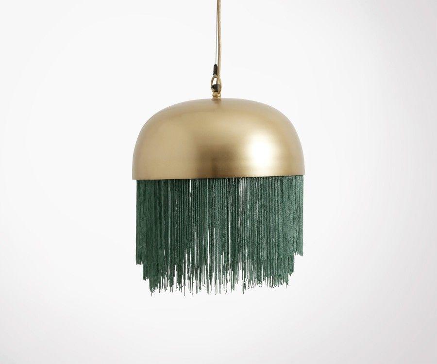 Suspension métal doré avec franges GRENEL - Nordal