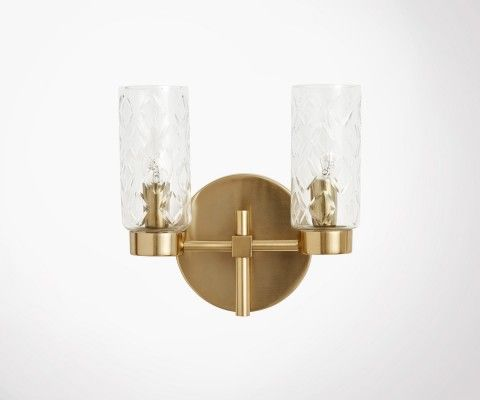 Antique style brass wall light GARGANTUA - Nordal