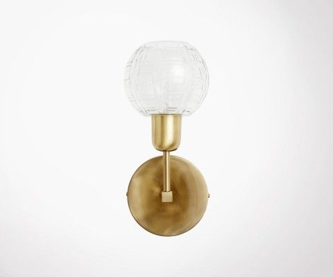 Small brass wall light BORLA - Nordal