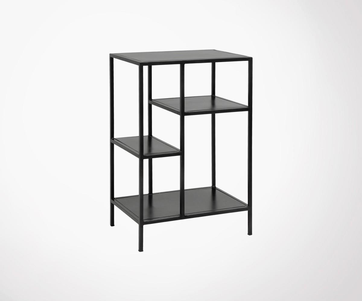 Petite étagère Métallique Noir Design Industriel Nordal Nouveauté