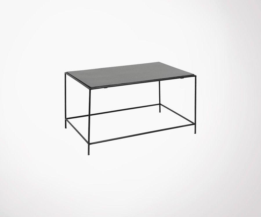 Grande table basse métal et granite TIMELESS - Nordal