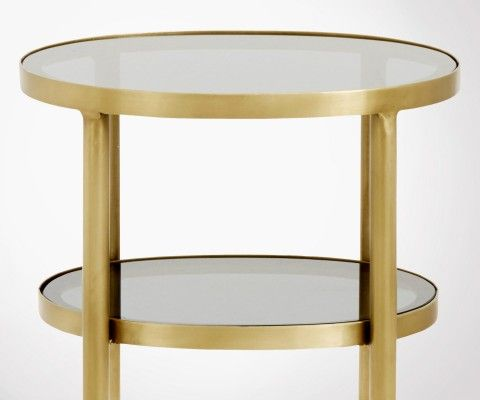 Laiton Petite Verre Ovale Dokota Nordal D'appoint Table BdoexC