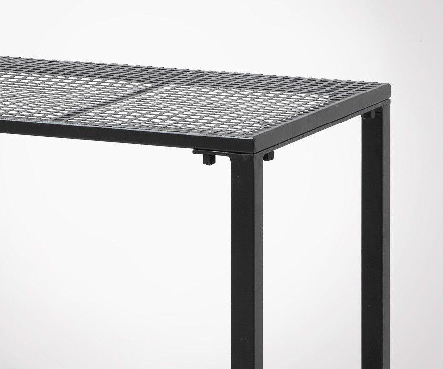 Table d'appoint design métal grillagé WIRE - Nordal
