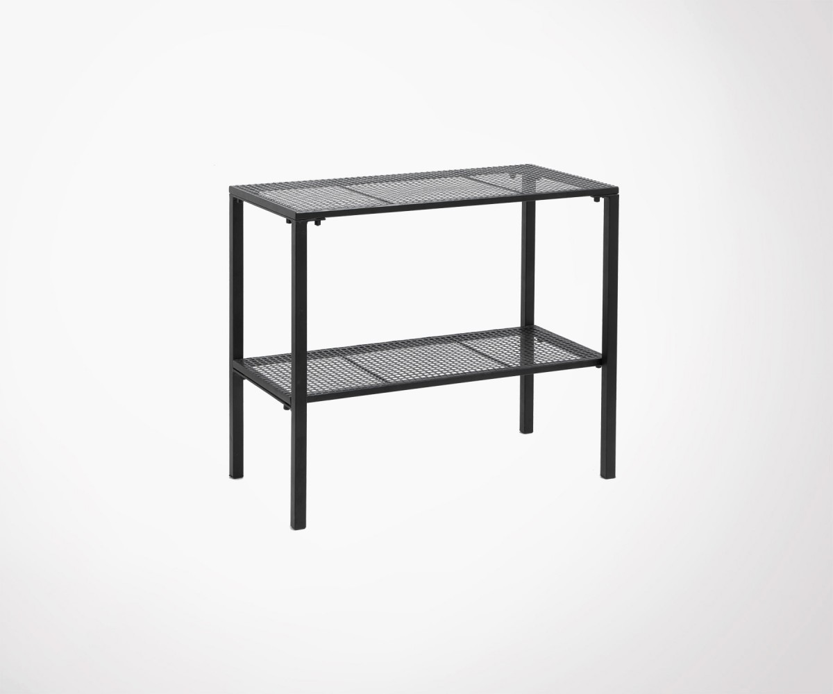 Table d 39 appoint nordal m tal noir mesh grillag 60cm style - Table d appoint scandinave metal ...