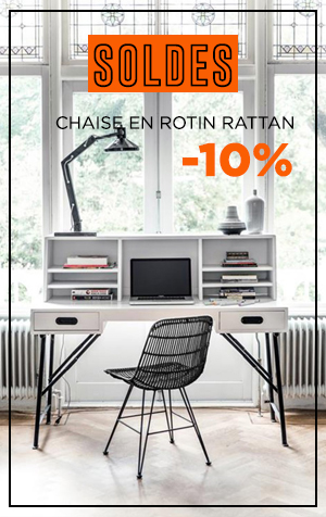 soldes chaise rattan hk living
