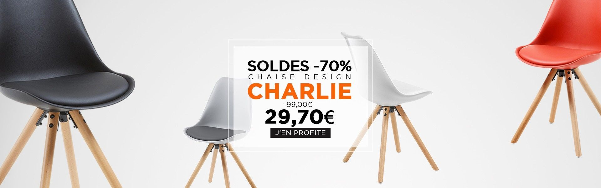 soldes chaise charlie scandinave