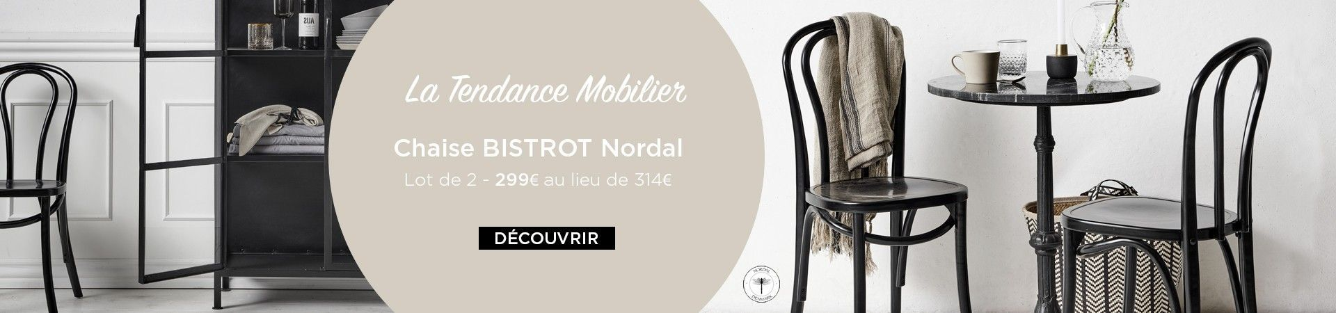 encart chaise bistrot nordal