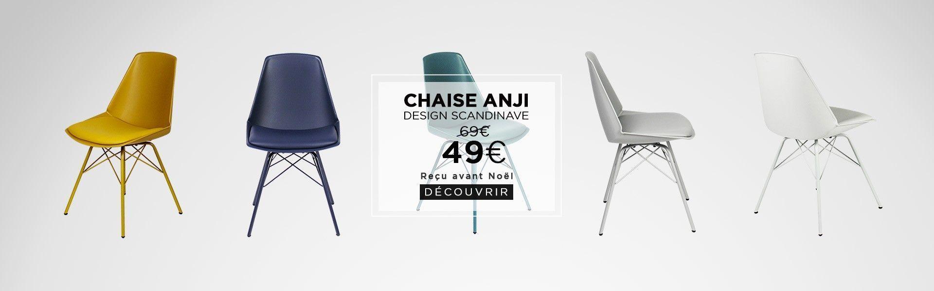chaise anji livraison noel