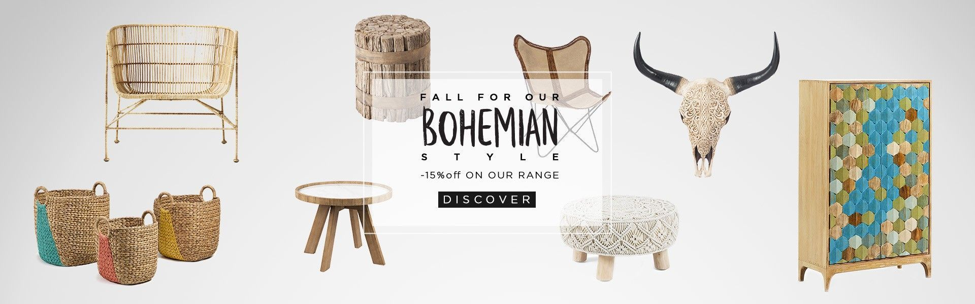 15% discount on bohemian collection