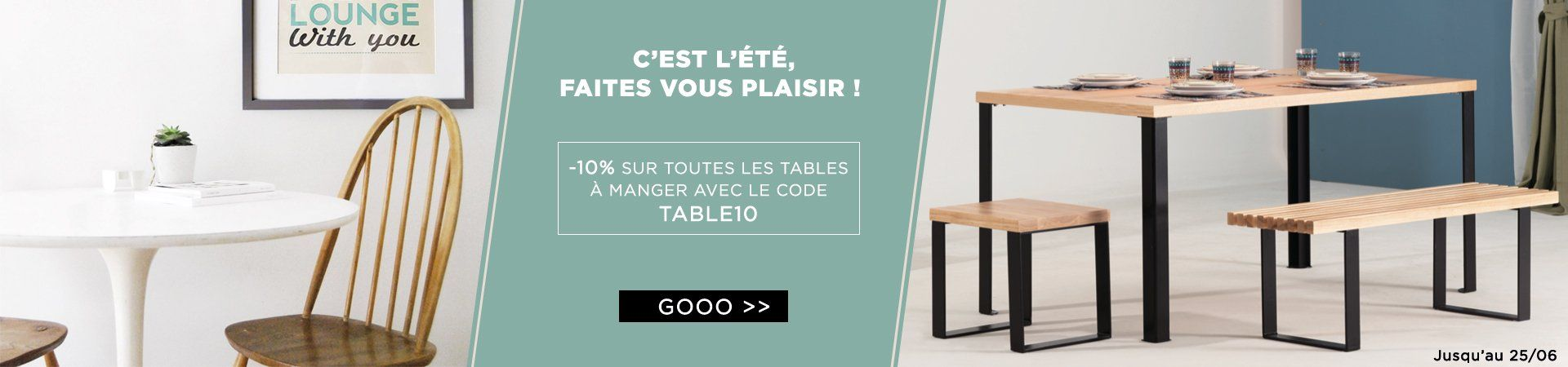 Remise 10% table