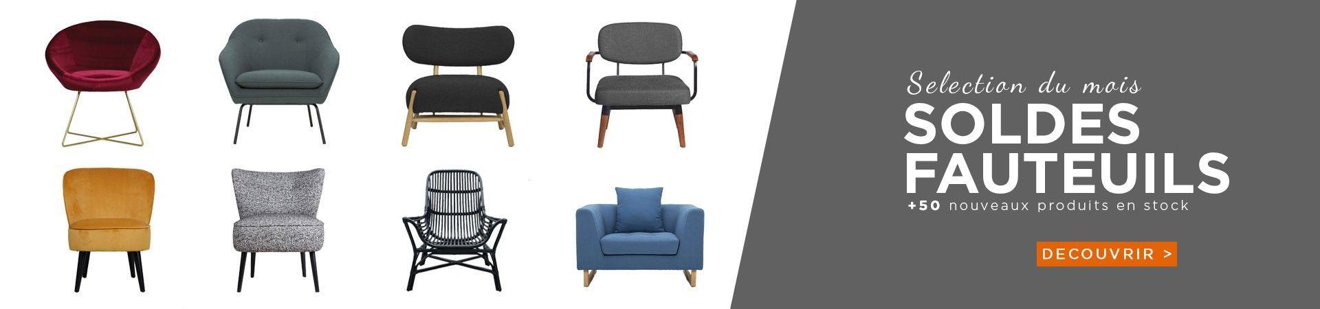 soldes fauteuils design