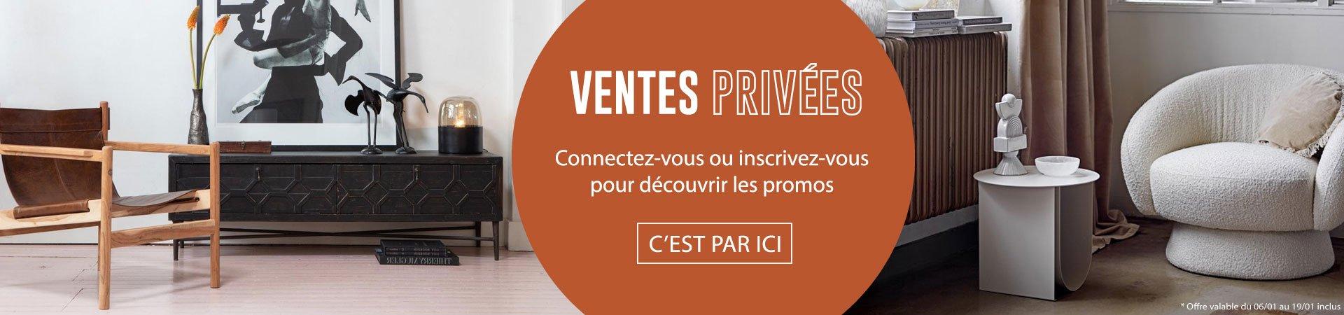 Ventes privées Meubles et Design : jusqu'à -40% sur une sélection de produits
