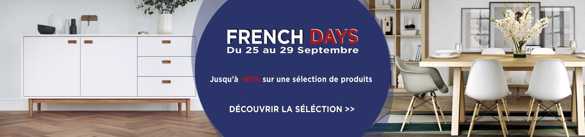 French Days : Jusqu'à - 40% sur de nombreux produits design et tendances
