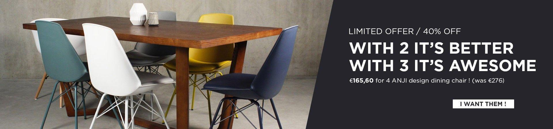 set 4 anji dining chair discount